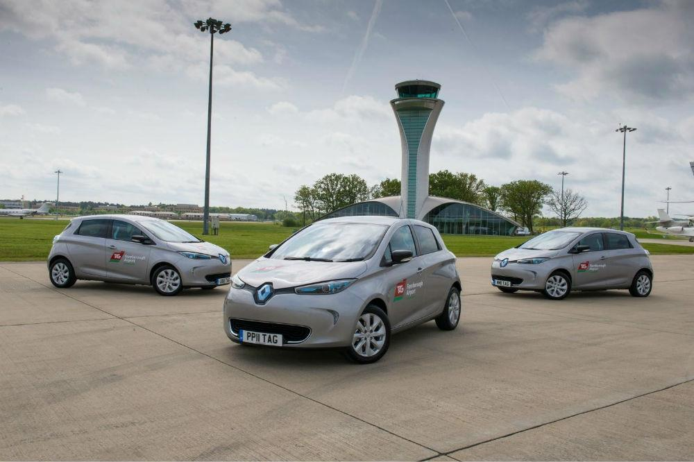 Renault ZOE joins the fleet at TAG Farnborough Airport