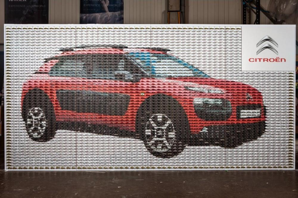 Mosaic of Citroen C4 Cactus on Display
