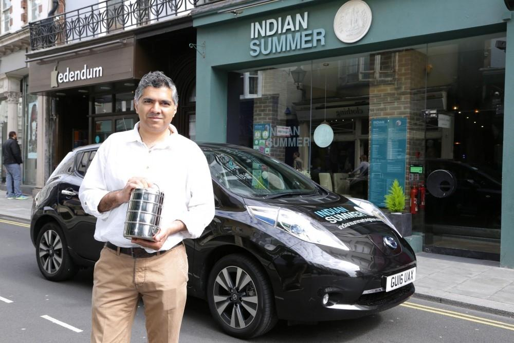 Nissan LEAF Drives 'Green' Curry Takeaway