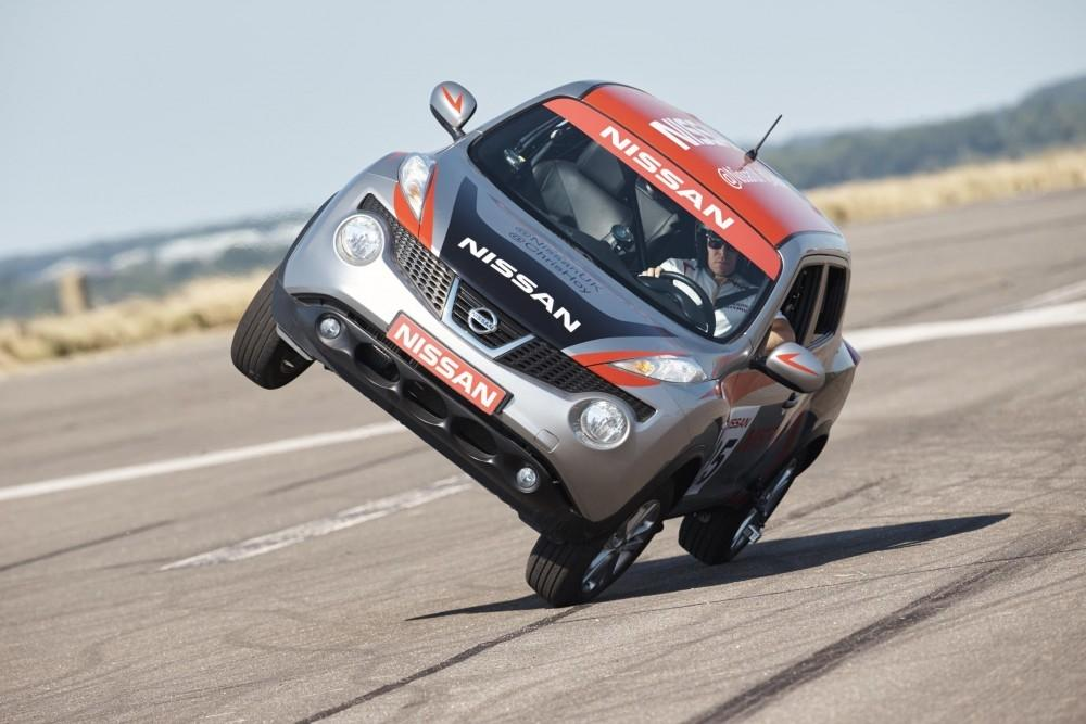 Nissan Juke Goes On Two Wheels For Hoy