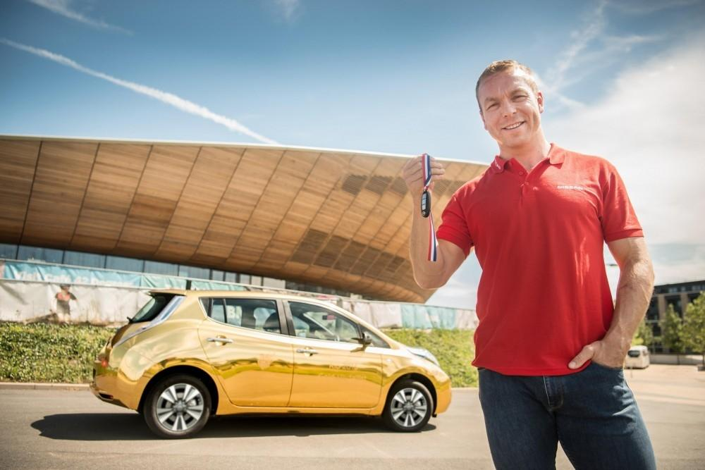 Olympian Presented With Gold Nissan LEAF