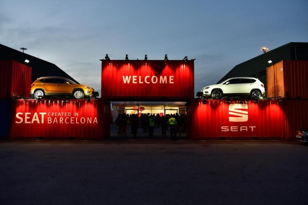 SEAT Ateca Larges It At Barcelona Harbour