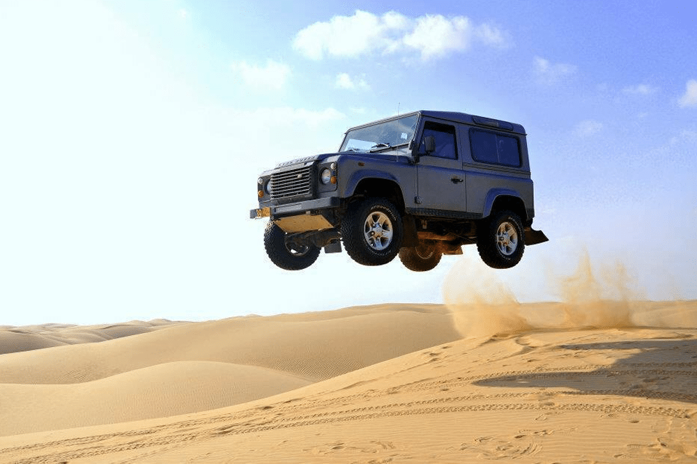 Land Rovers flying through the air? This week on Facebook.