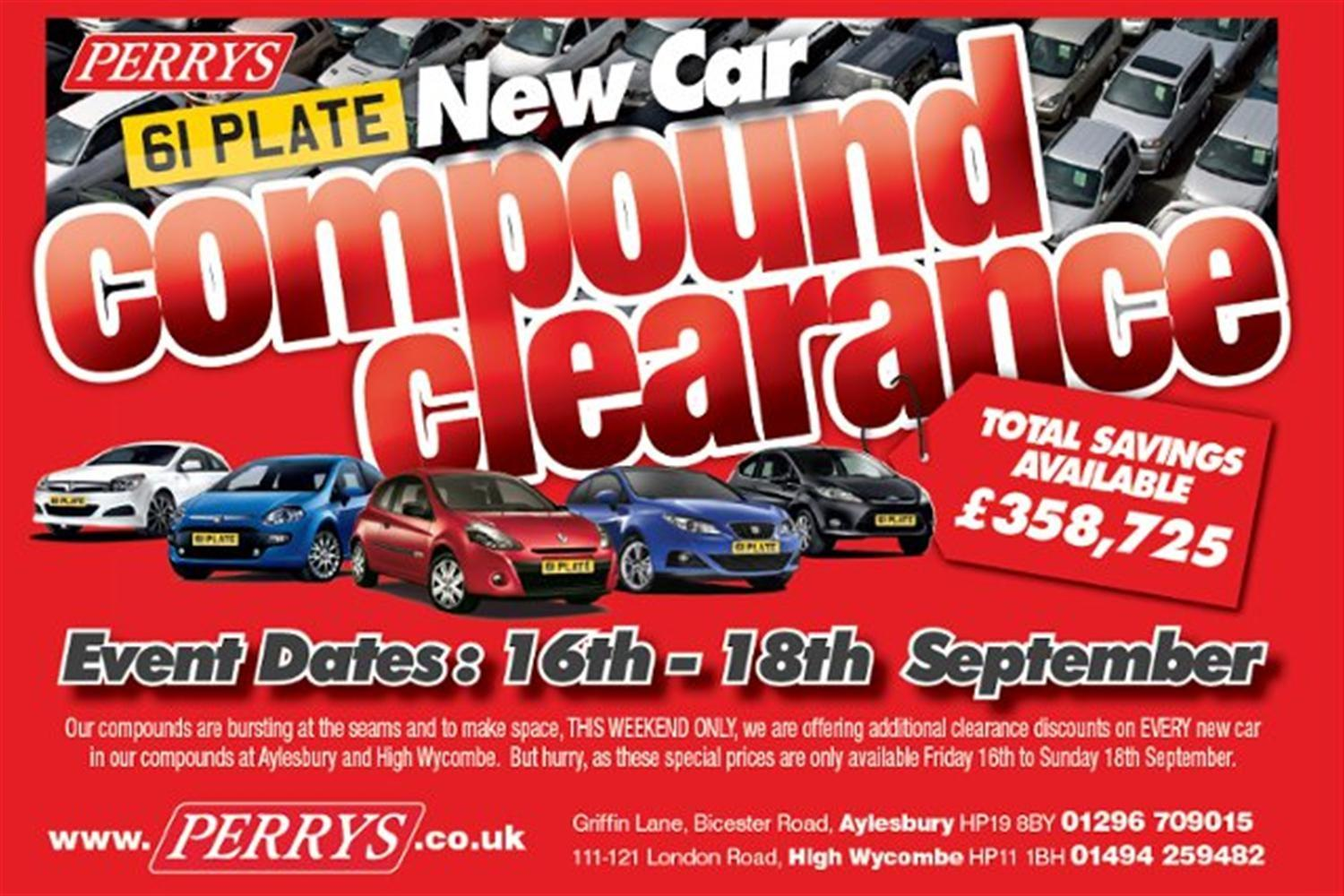 'Compound clearance' discount weekend at Perrys