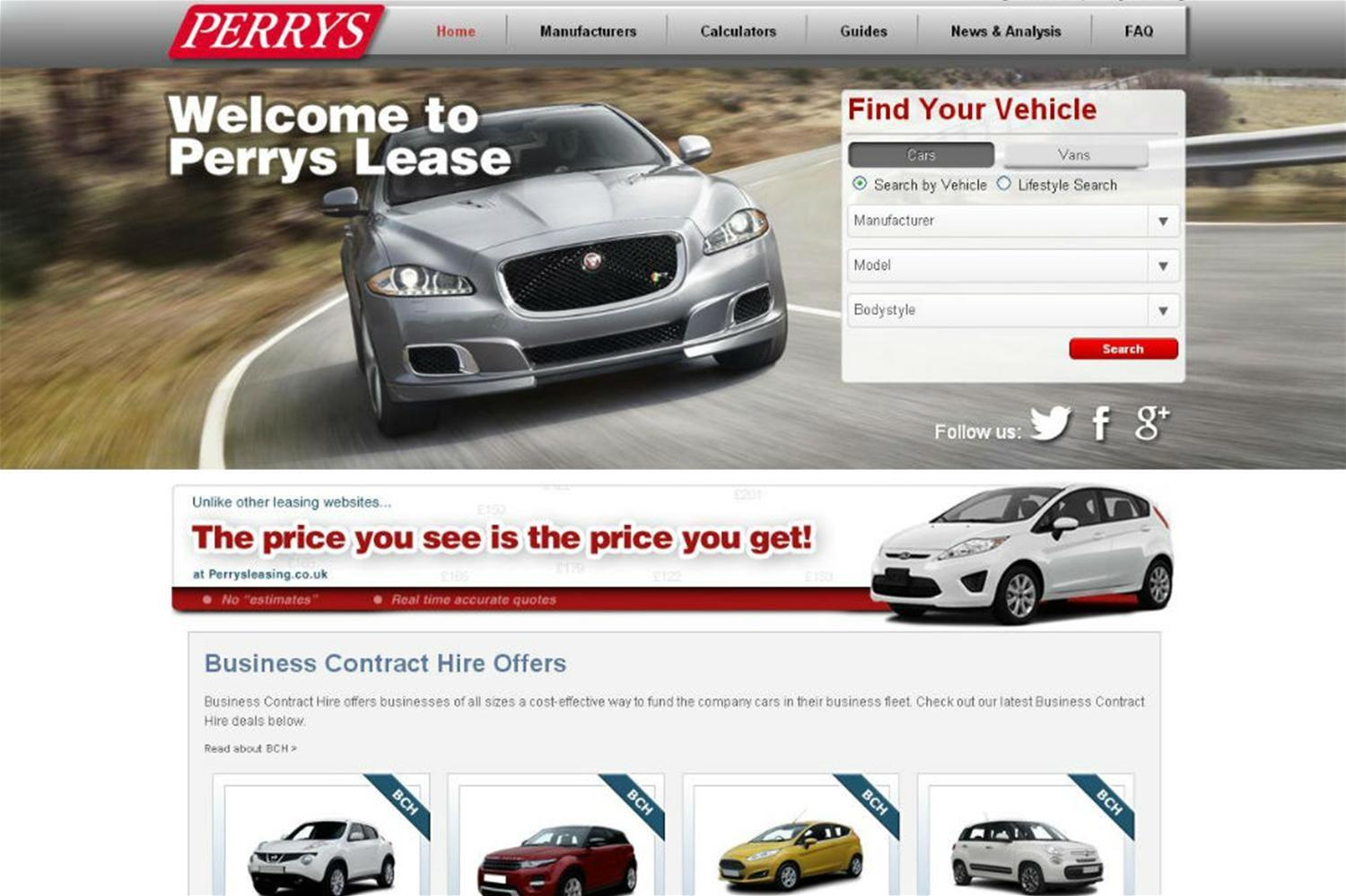 Perrys Leasing launched online
