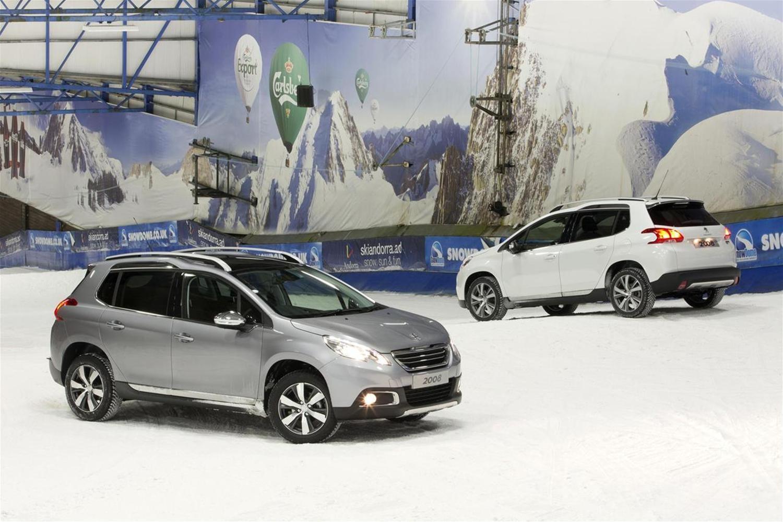Peugeot 2008 Crossover shows off ski skills
