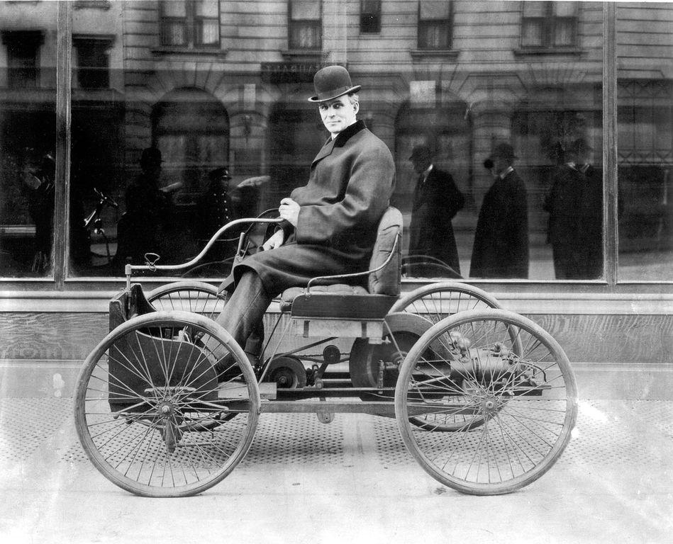 Ford built his first automobile 122 years ago this month