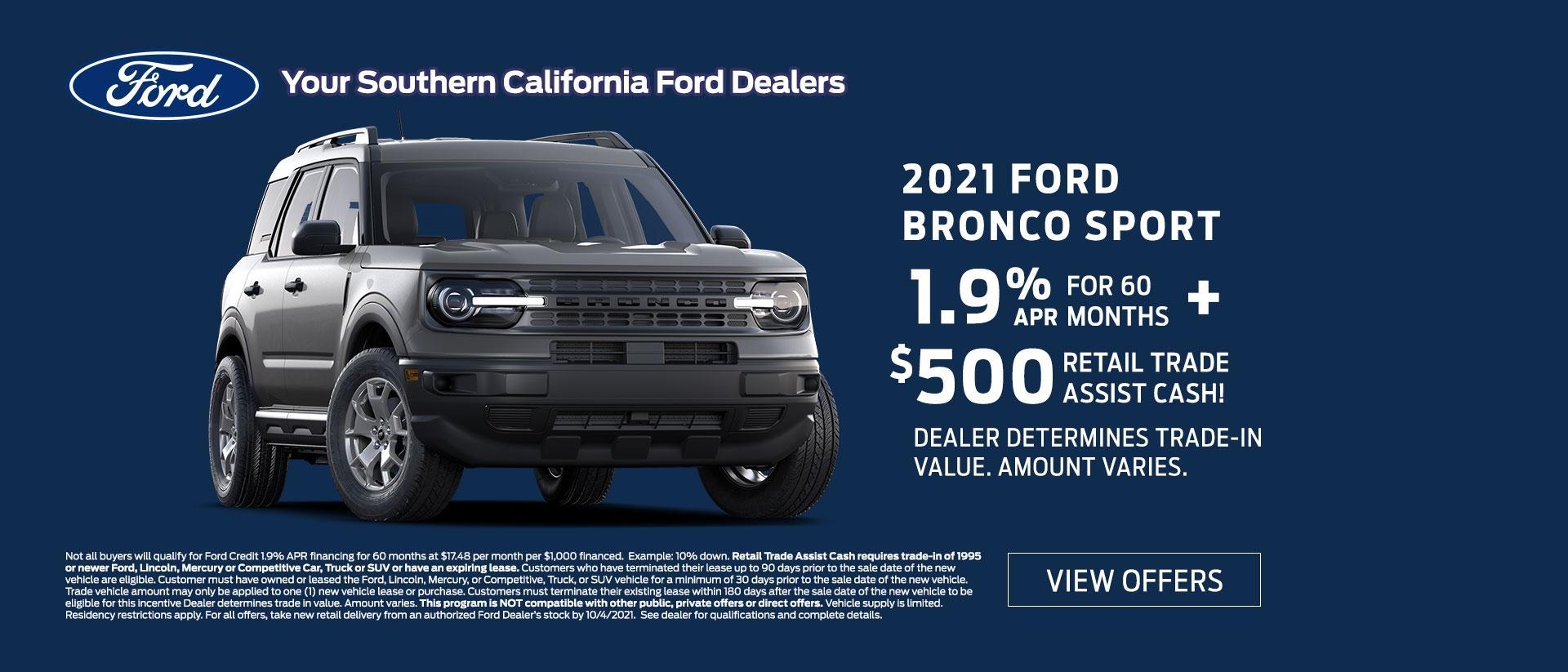 Bronco Specials