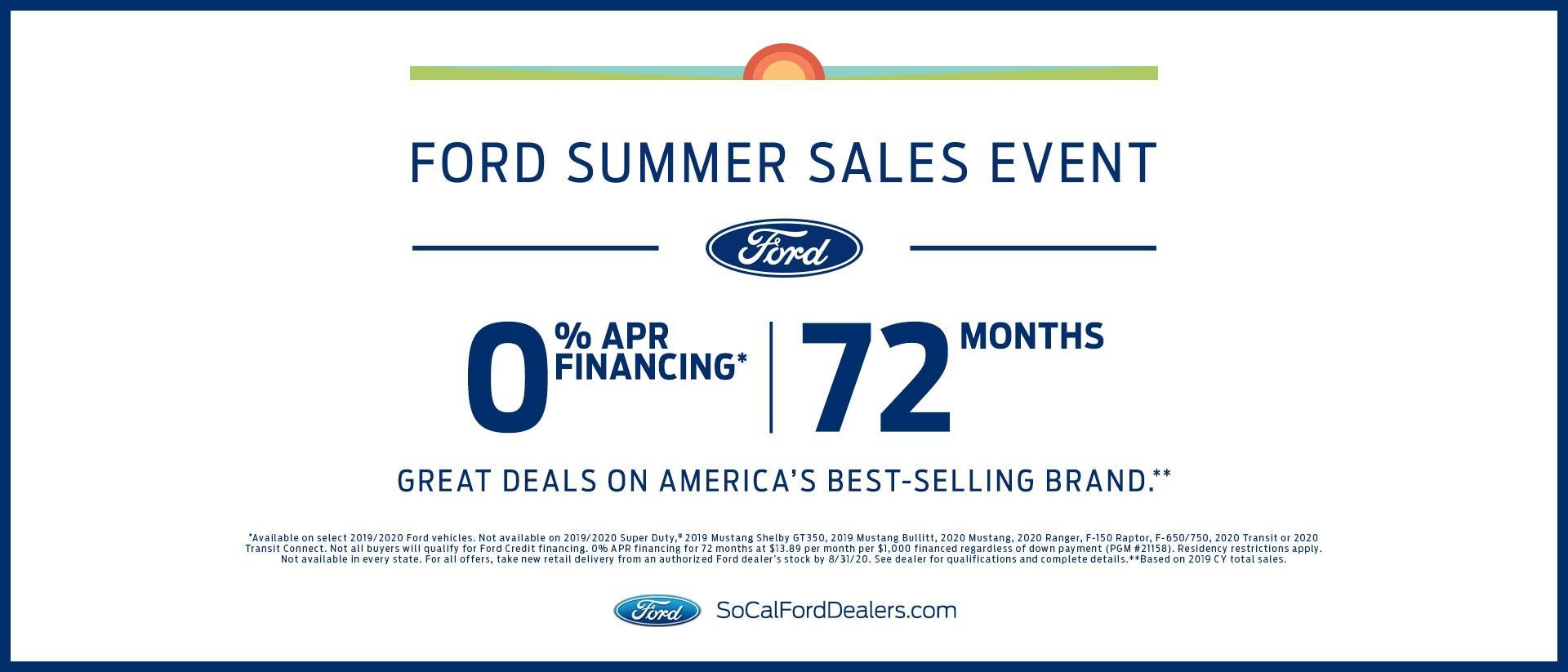 Summer Savings 0% for 72