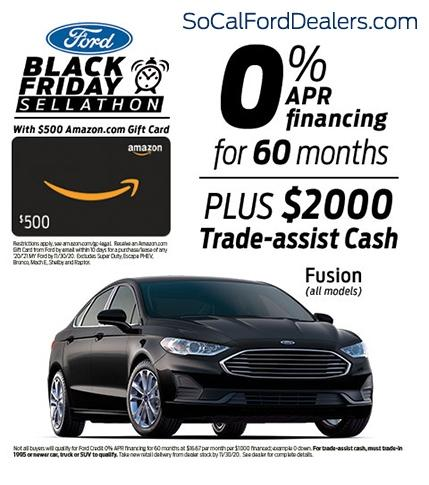 Black Friday Ford Fusions