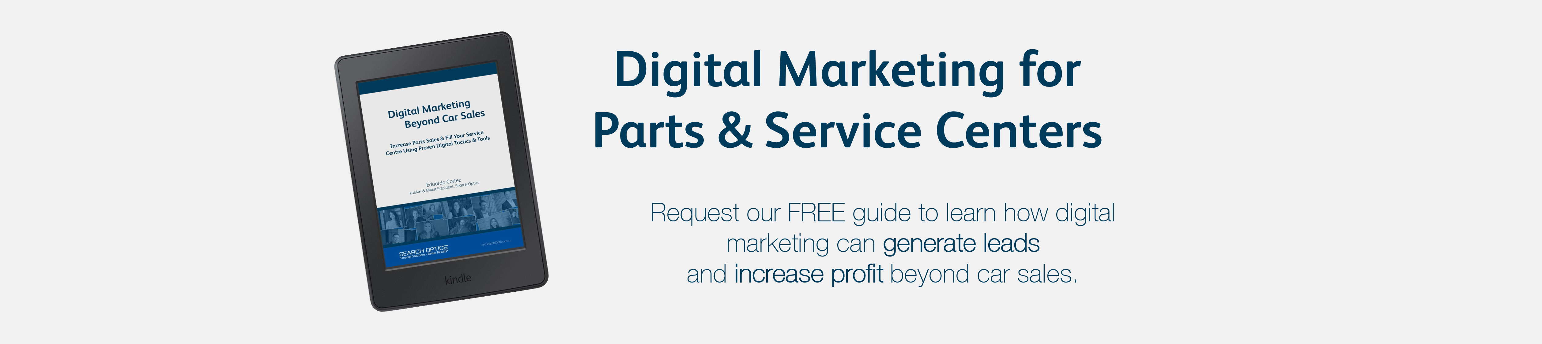 Digital Marketing for  Parts & Service Centers