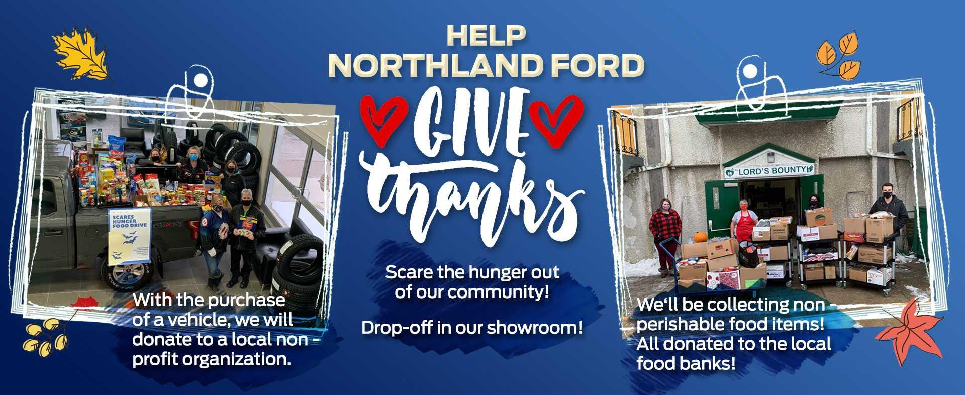 Help Northland Ford Give Thanks - The Pas & Flin Flon Food Drive