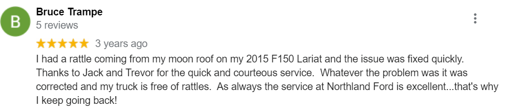 Dealership Review from Bruce | Northland Ford Sales