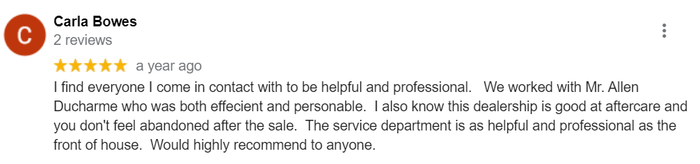 Dealership Review from Carla | Northland Ford Sales
