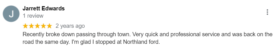 Dealership Review from Jarrett | Northland Ford Sales