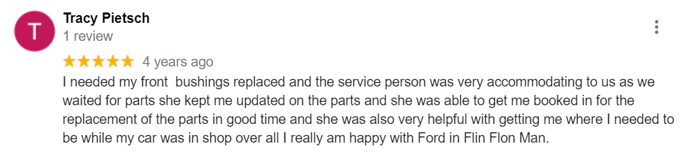 Dealership Review from Tracy | Northland Ford Sales