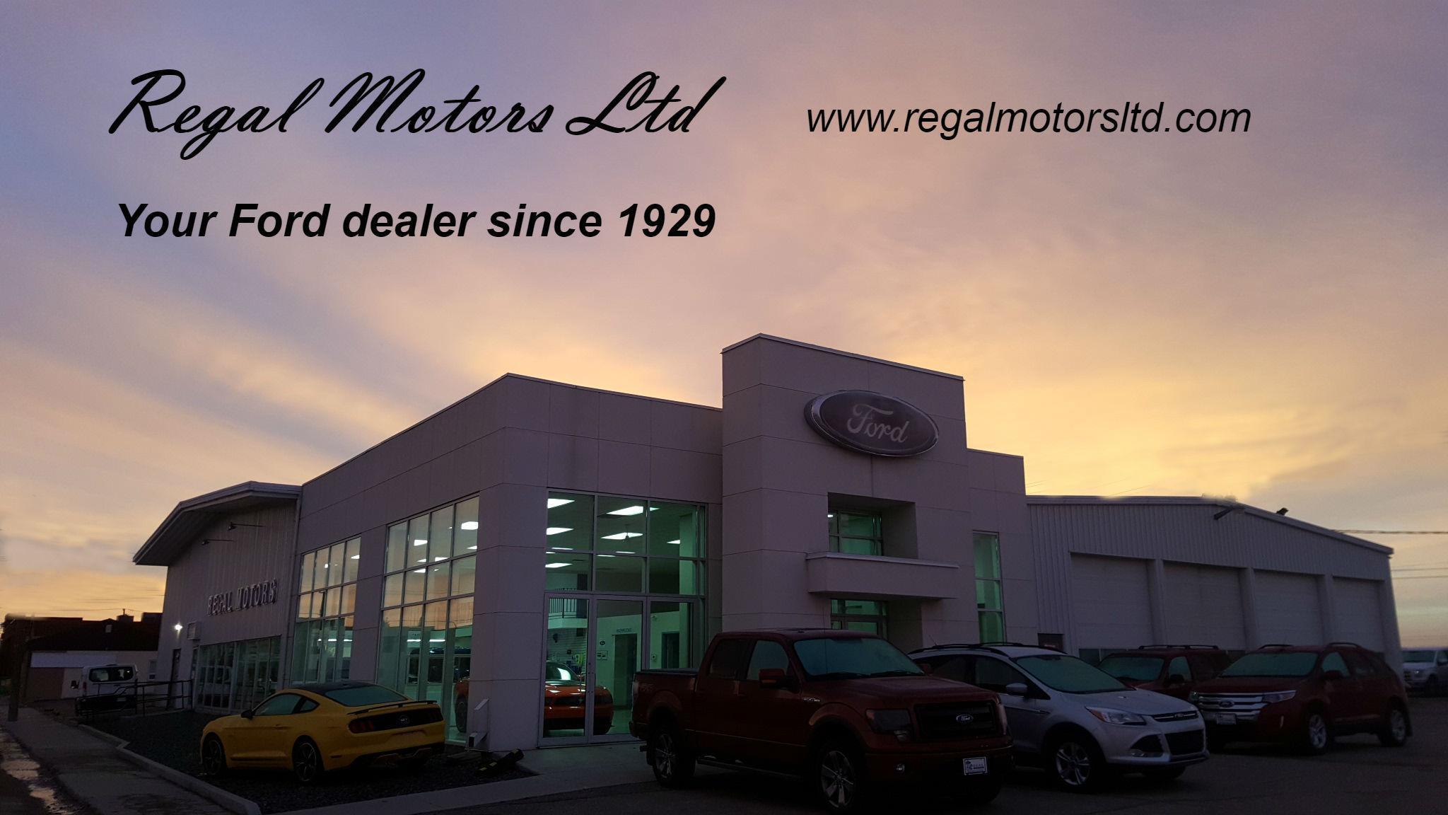 Regal Motors Your West Central Saskatchewan Ford Dealer since 1929