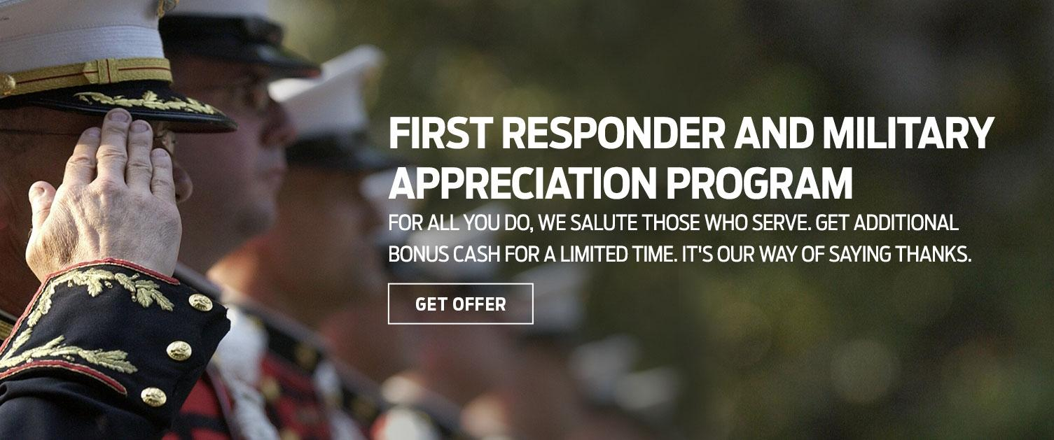 First Responder and Military Offer