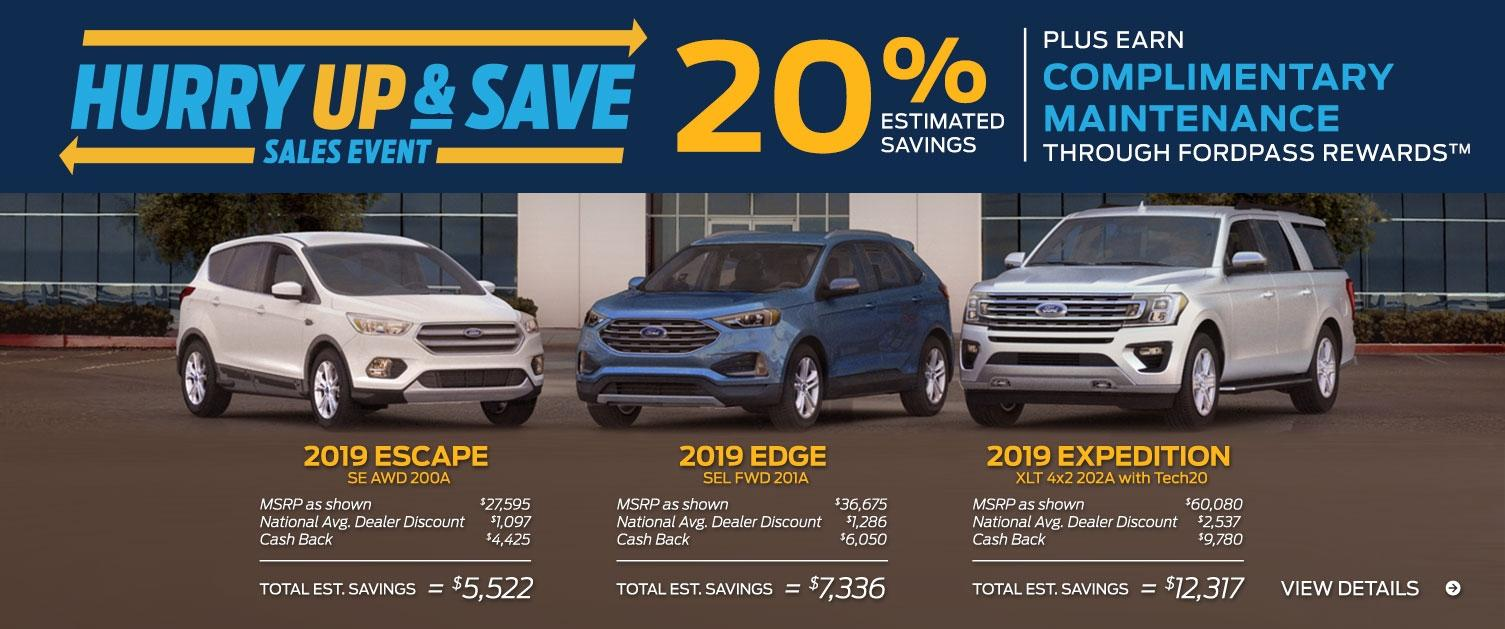 SUV Hurry Up Save Sales Event