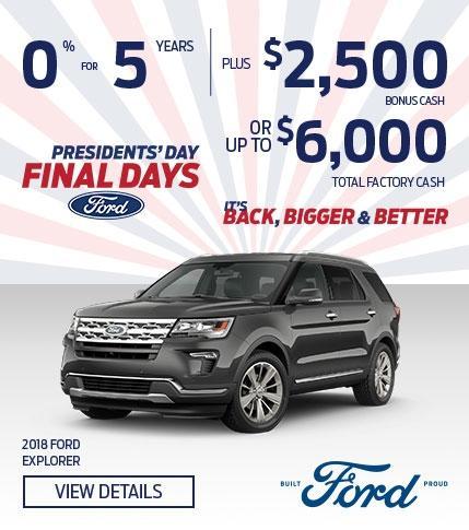 Presidents' Day Final Days!