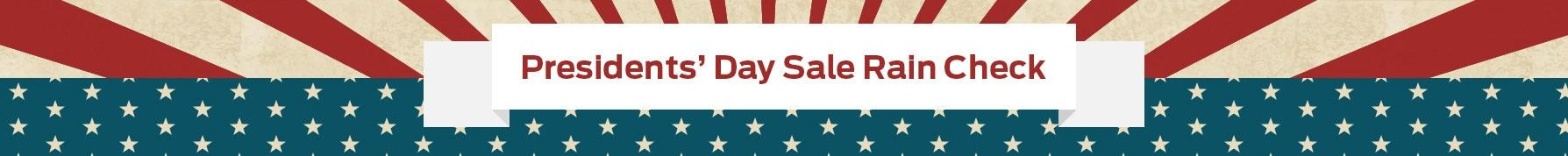 President's Day Sale Banner Image