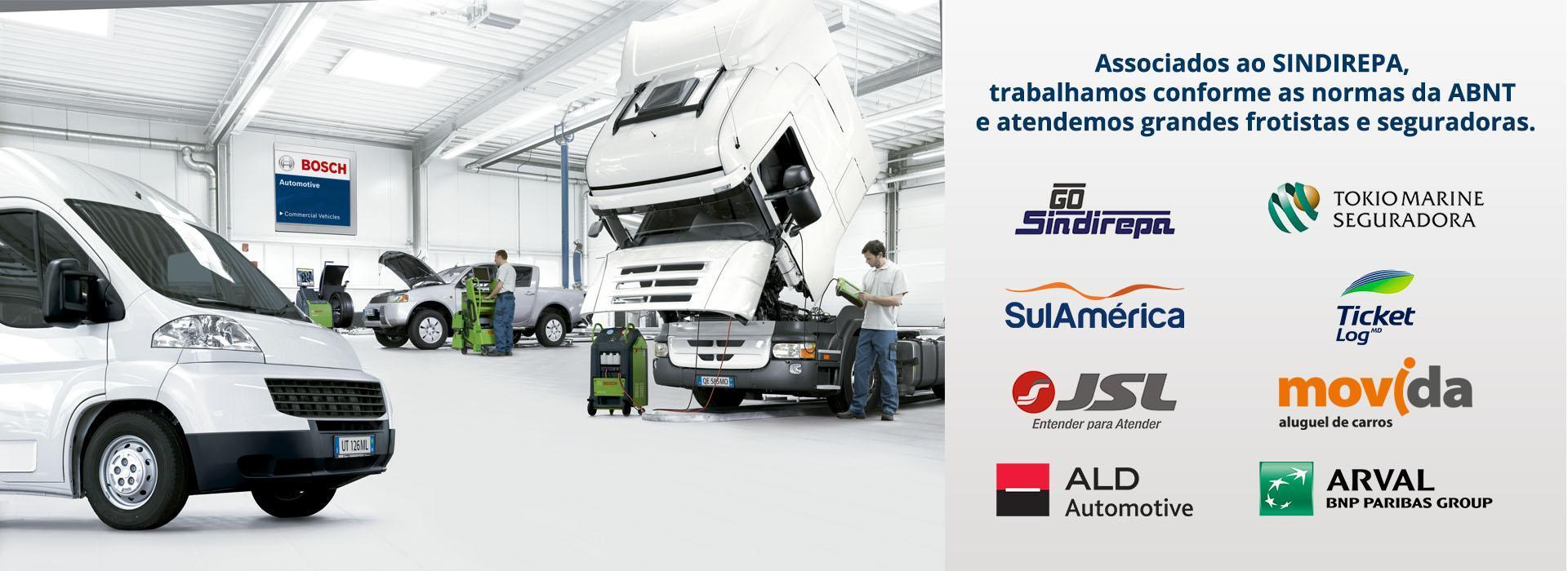 Associados ao SINDIREPA, trabalhamos conforme as normas da ABNT e atendemos grandes frotistas e seguradoras.