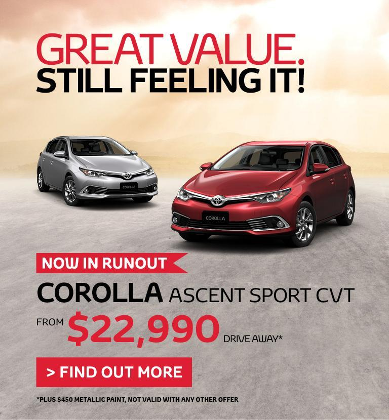 Corolla Special Offer