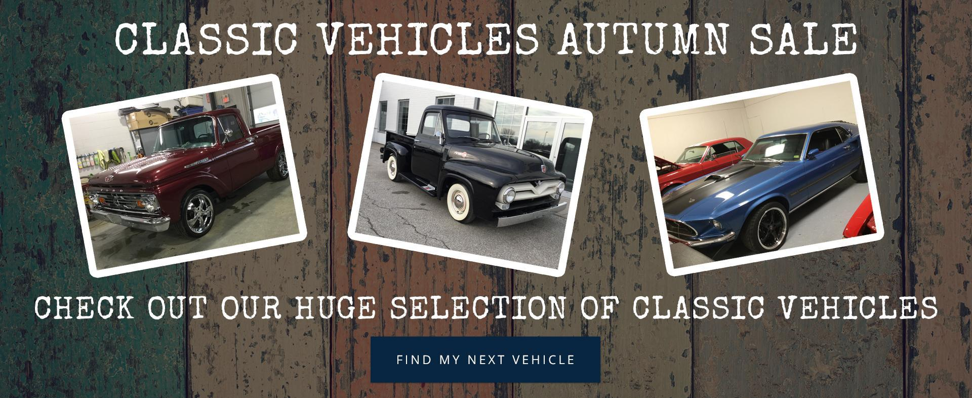 Classic Vehicles Autumn Sale