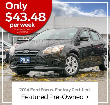 Ford Focus SE Certified Pre-Owned | Wayne Pitman Ford Lincoln in Guelph