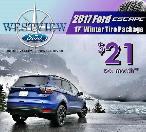 Ford Escape Winter Safety pacakges - Ford Comox, Ford Courtenay, Ford Powell River