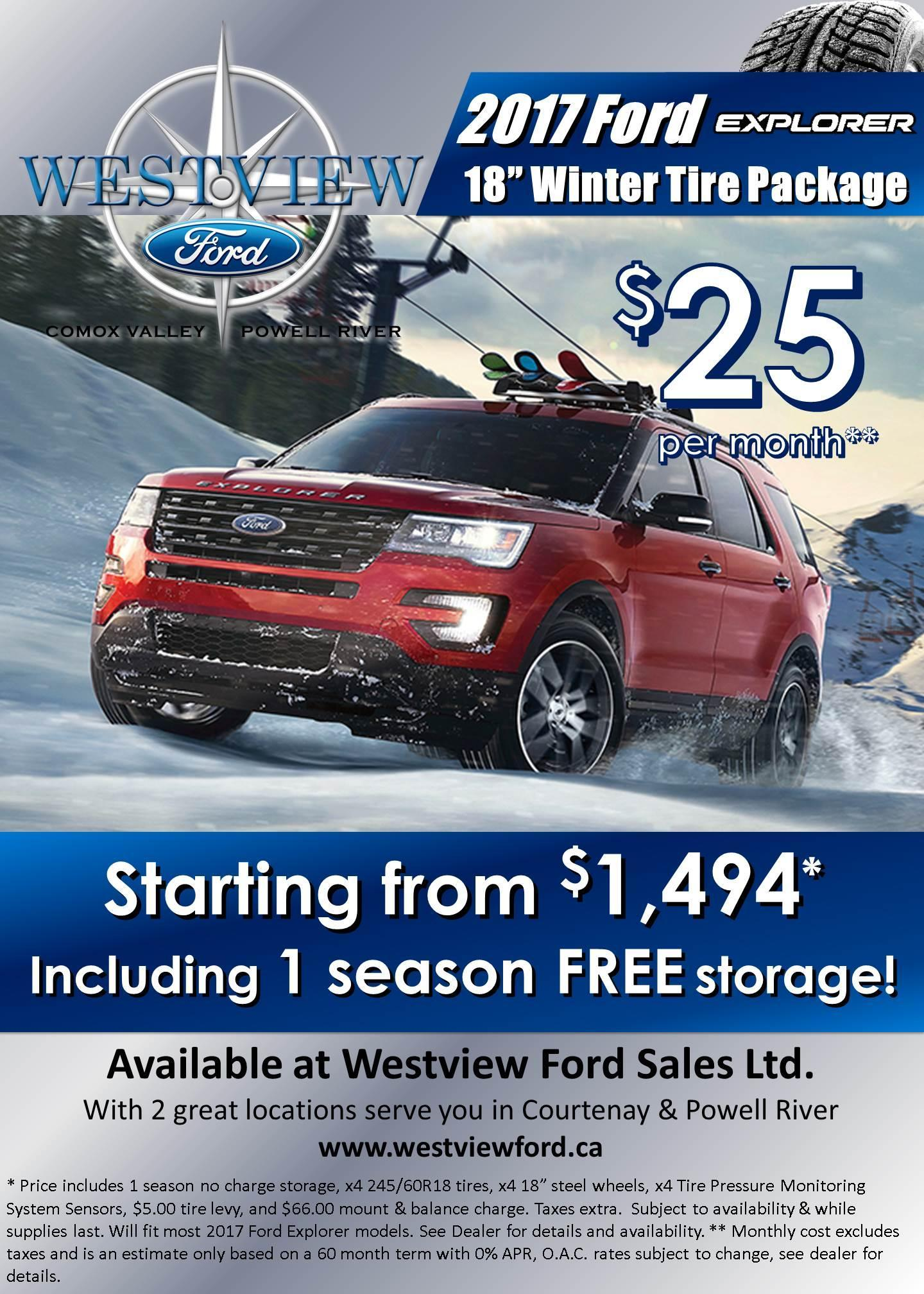 2017 Explorer Winter Safety Package - Westview Ford