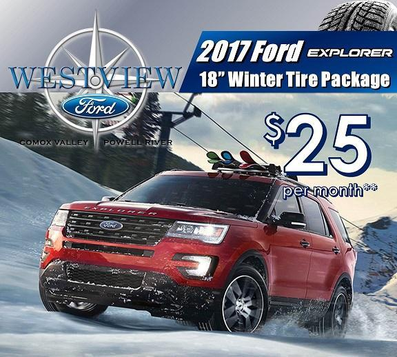 Ford Explorer Winter Safety Packages Ford Courtenay, Ford Comox, Ford Powell River