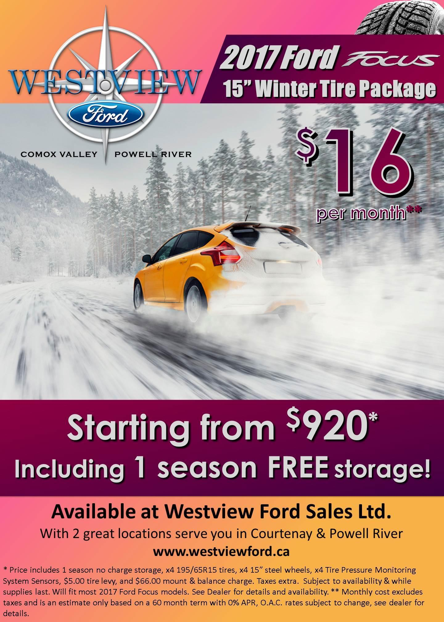 2017 Focus Winter Safety Package - Westview Ford
