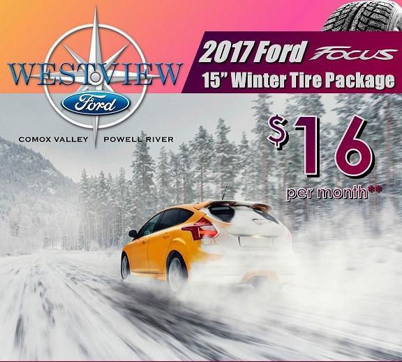 Ford Focus Winter Safety pacakges Ford Comox Ford Powell River Ford Courtenay