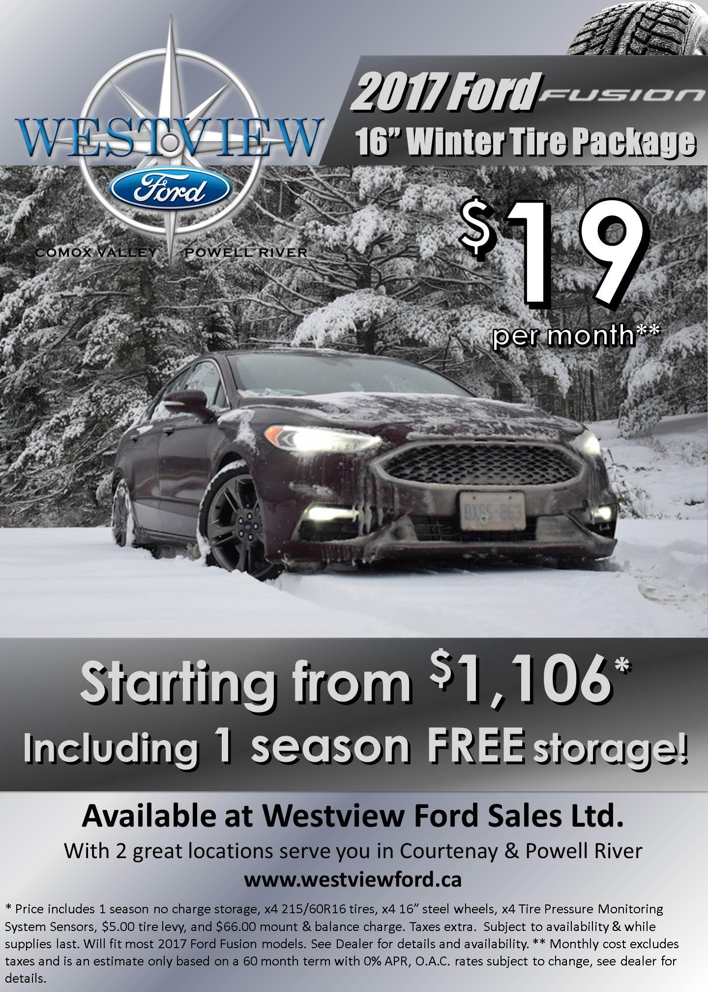 2017 Fusion Winter Safety Package - Westview Ford