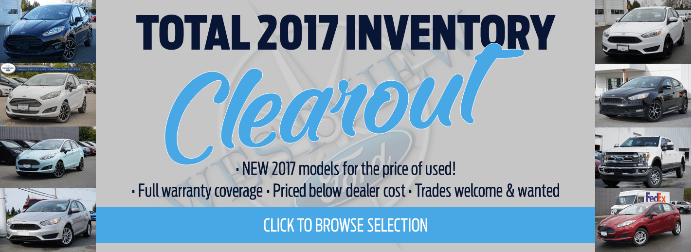 2017 New Inventory Clearout