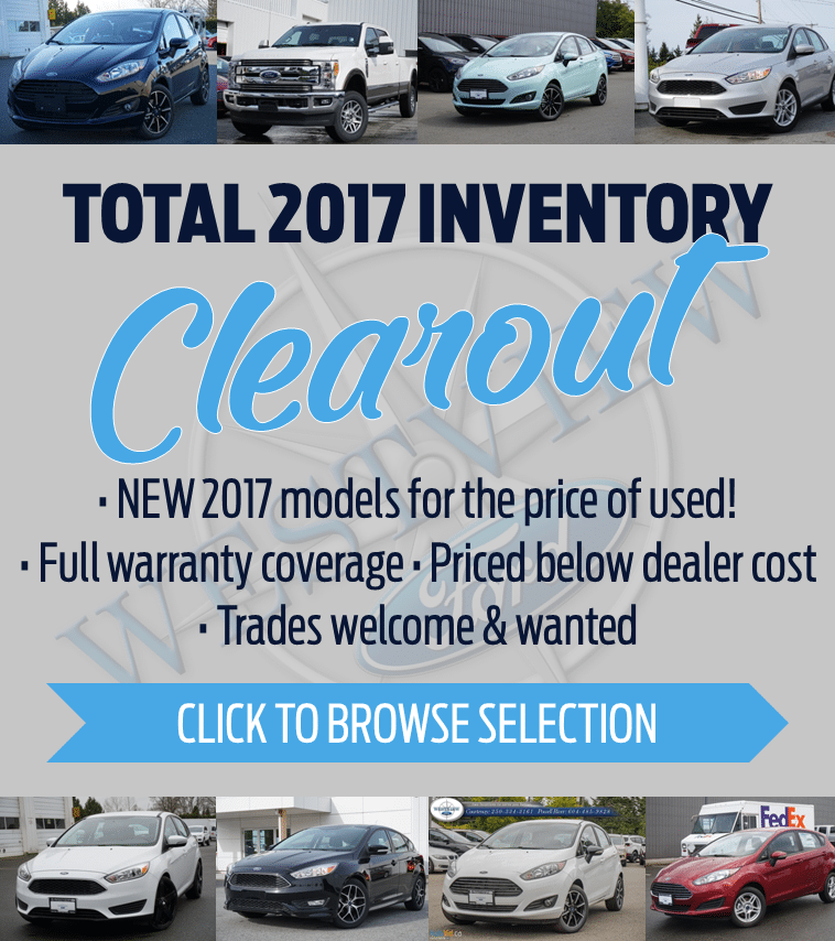 2017 New Inventory Clearance