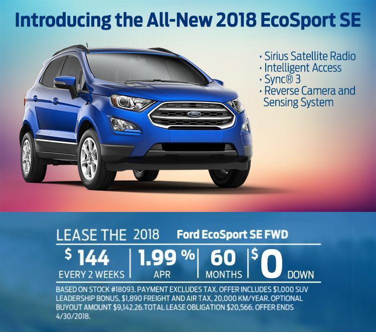 2018 EcoSport Westview Ford