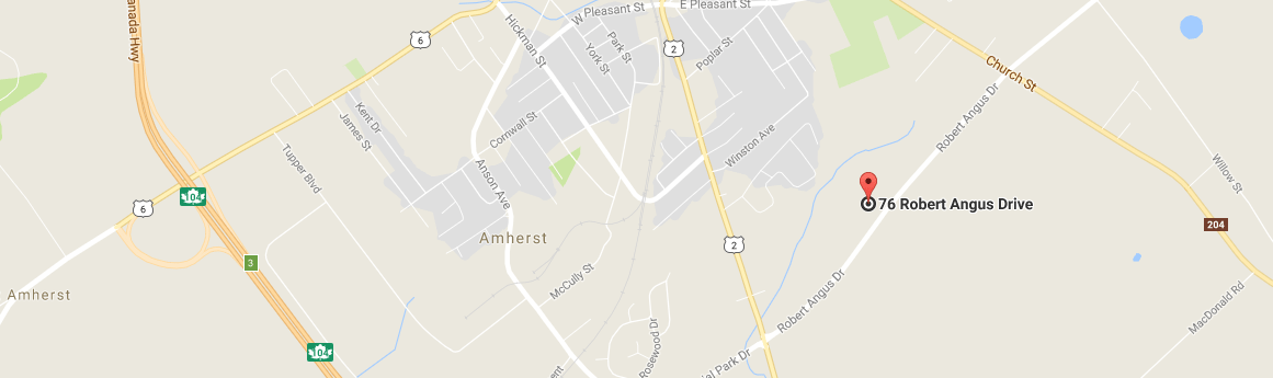 Taylor Ford Amherst map