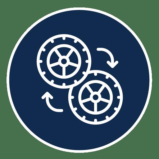 Comment bien entretenir ses pneus : Rotation des pneus
