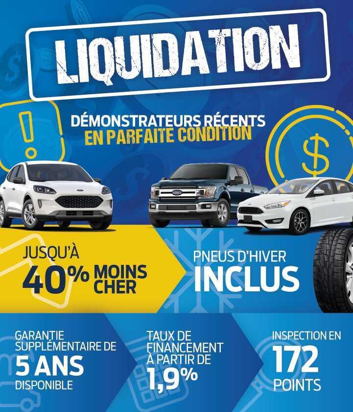 Liquidation démonstrateurs