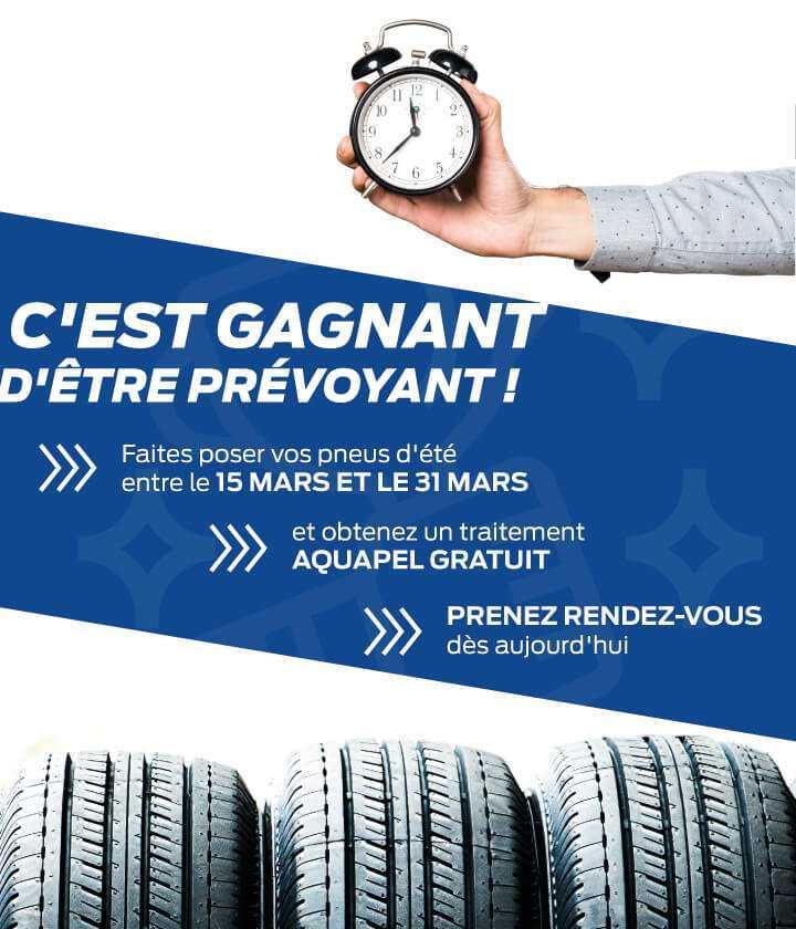 Offre spéciale sur les pneus en mars