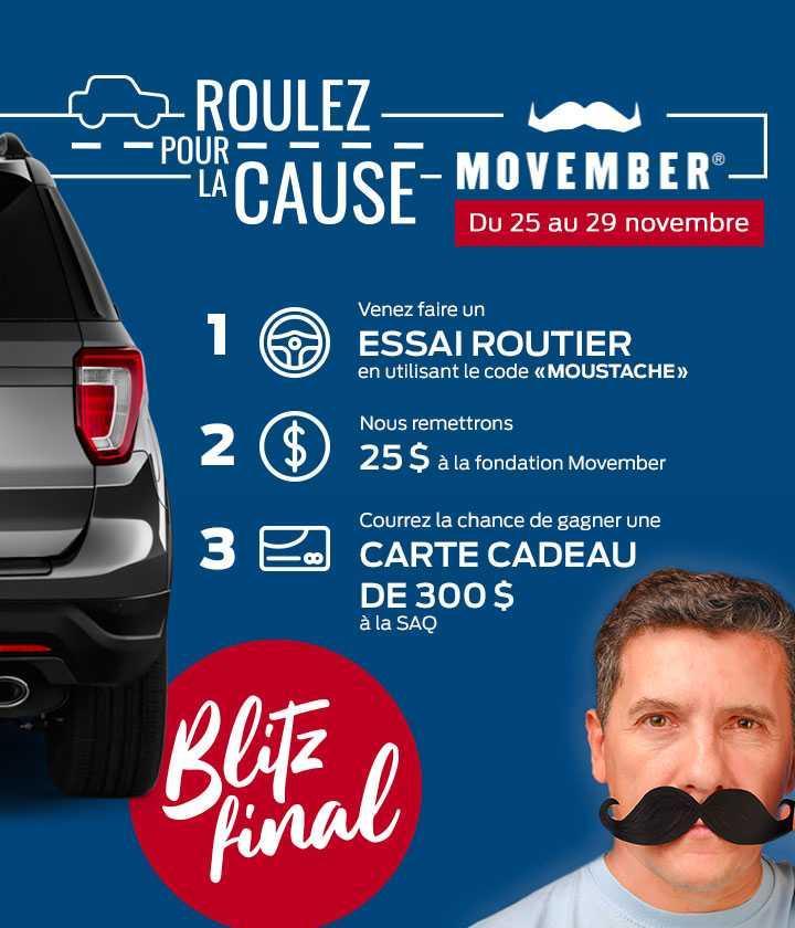 Roulez pour la cause! Movember