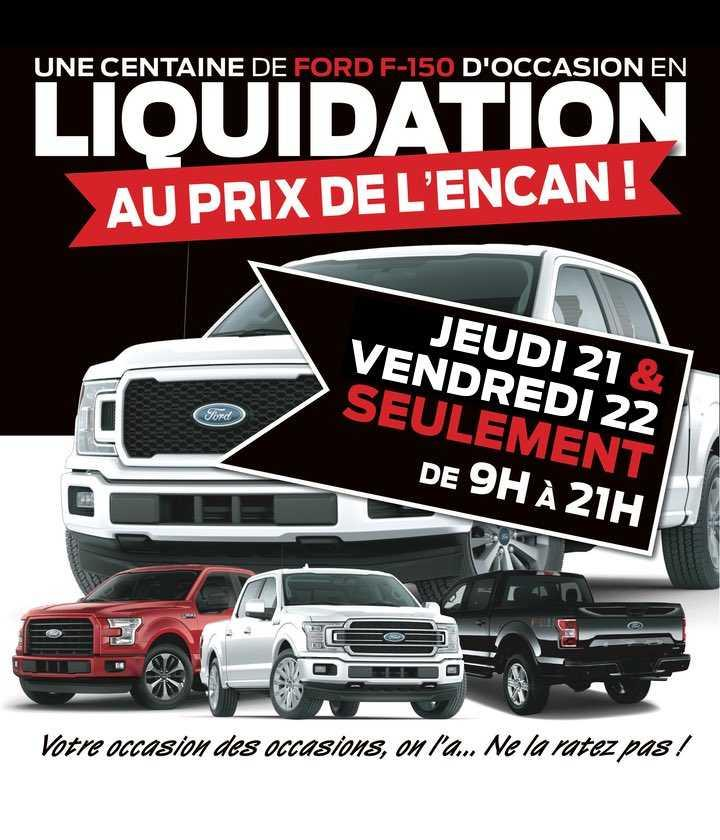 Liquidation Black Friday F-150
