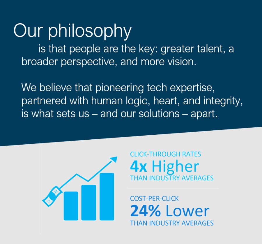 Our Philosophy is that people are the key.