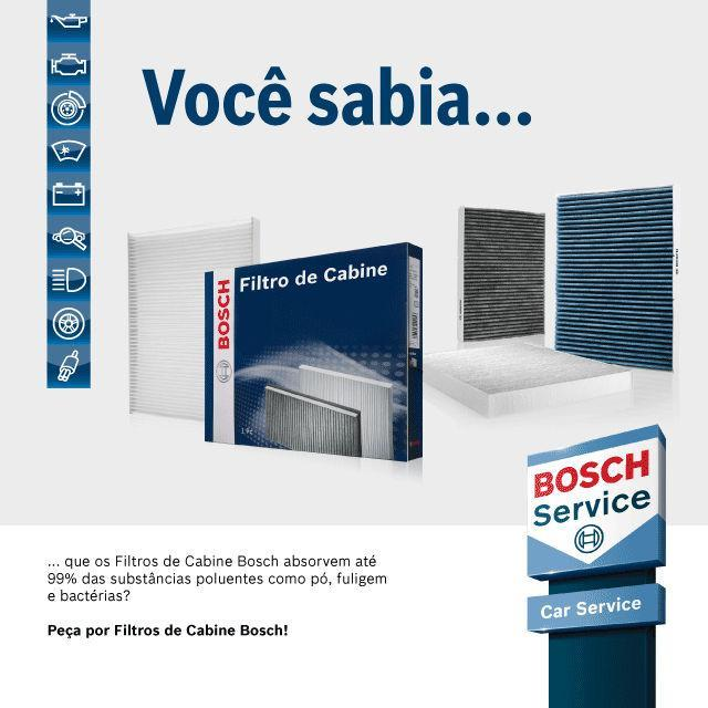 Peça por filtros Bosch!