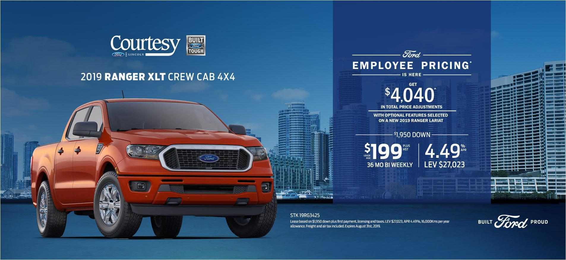 Ford Employee Pricing - Ranger