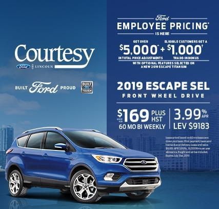 Ford Employee Pricing - Escape