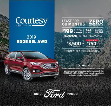 Courtesy Ford Edge June Offer