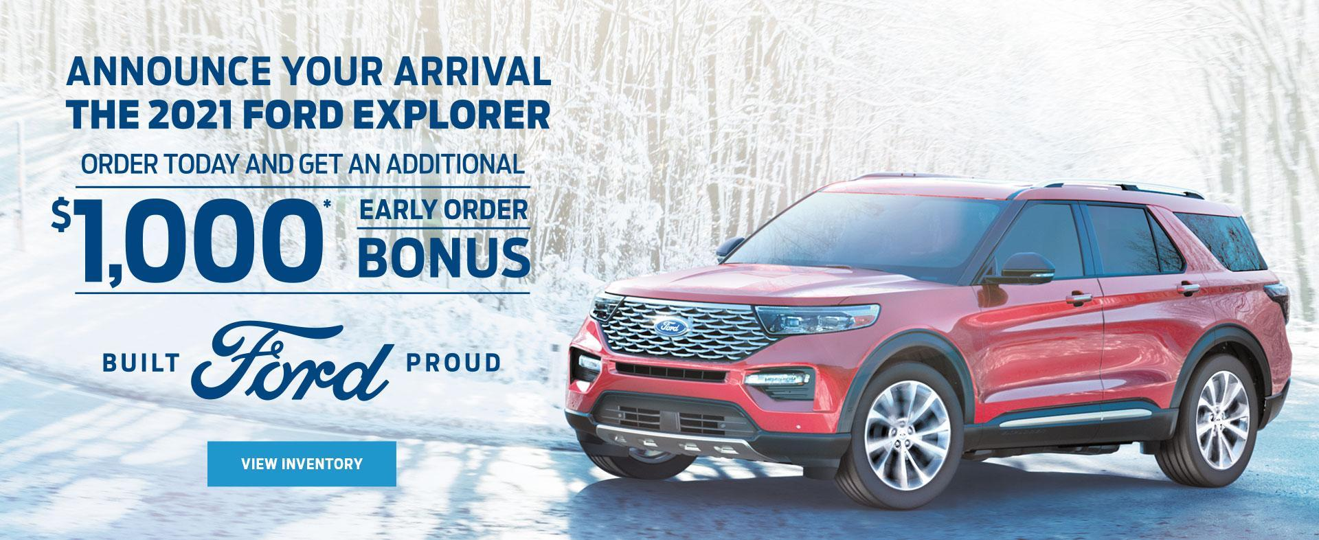 Early Order Bonus | 2021 Ford Explorer Ford of Canada